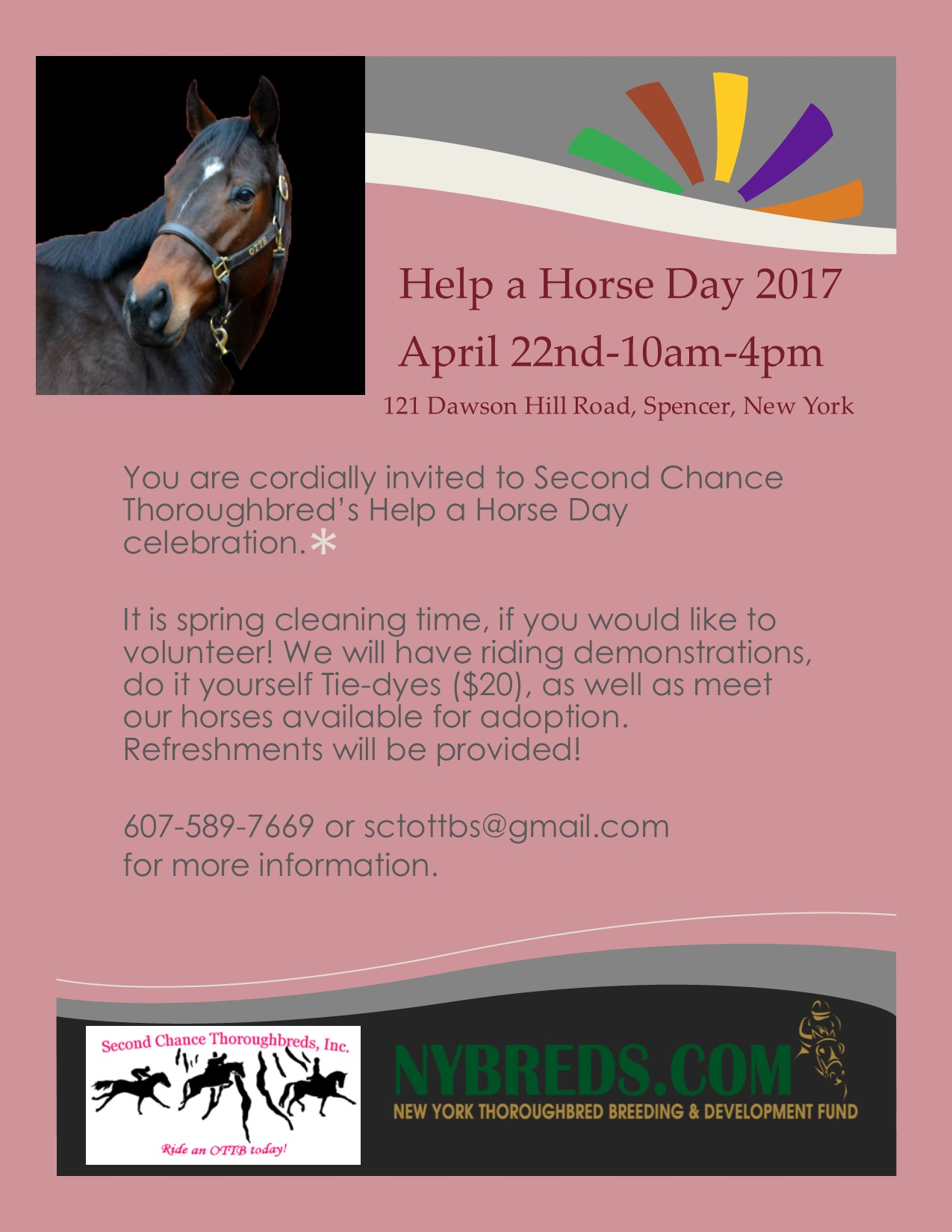 Help a Horse Day 2017 - April 22, 10-4